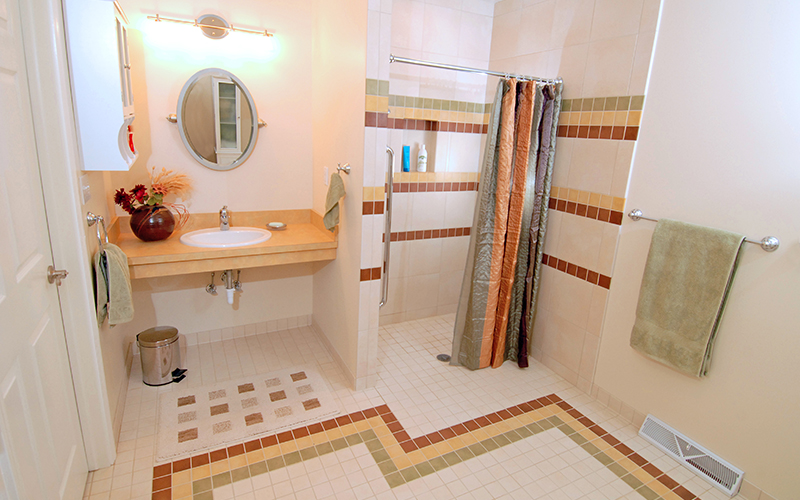 ADA Compliant Bathroom Karlovec Company Shaker Heights Ohio - Ada compliant bathroom tile